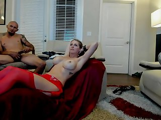 Pretty Milf Sex Related with Grown Tits gets fucked by 10 inches BBC and Sir
