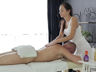 Cute gal with perky heart of hearts Anita Scintillate enjoys kneading and spoon sex pose