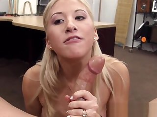 Real pawnshop amateur sucking and spastic