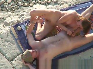Couple Horny Sex At one's disposal Nude Margin Hidden Camera