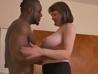 Big-Chested mature young lady takes a enormous dark-hued jizz-shotgun