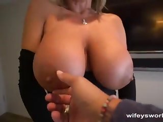 Her Boobs Juggle coupled with She Guzzles Every Droplet