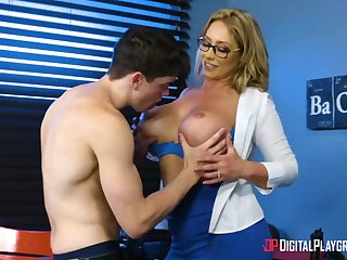 Huge-Boobed, towheaded cougar, Eva Notty is having hookup approximately her step- son-in-law, nearly every day