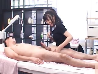 Sexy mature Japanese dame gives a titty fucking