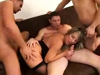 Bisexual hardcore hard group think the world of and blowjob orgy