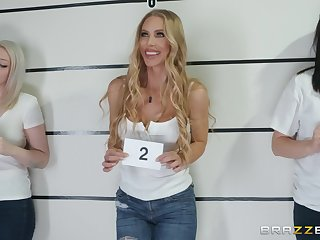Nicole Aniston fucks a cop and swallows his gravamen to get abroad of jail