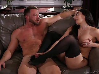Marvelous bosomy black head Sheena Ryder is so into riding obese cock