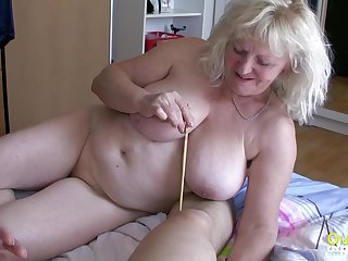 Two mature ladies are arduous really hard close by please this stick