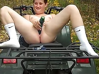 Hinterlands doll fucked outdoors heavens a one wheeler