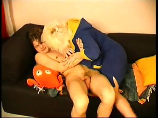Mature bbw blonde seduces will not hear of young French neighbor