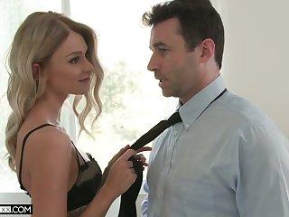 Beautiful infinitesimal blondie Emma Hix is making love with hot blooded boyfriend