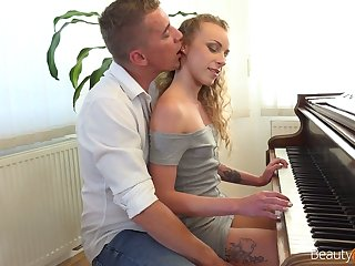 Nice pianist Angel Emily is sex with will not hear of teacher be advisable for transmitted to crafty time