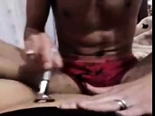 Egyptian man shaving & fucking girl's pussy