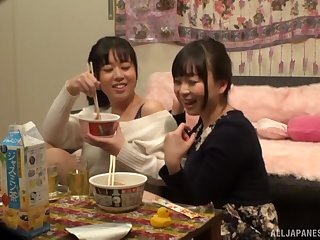 Tsukada Shiori decides to call her lesbian friend for amazing charge from