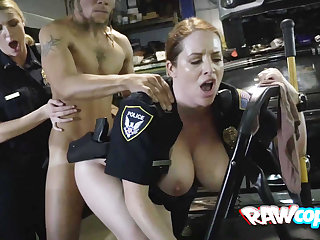 Naughty cop gets hard had sexual relations by rasta coxcomb