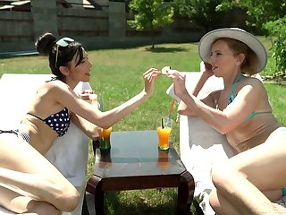 Wondrous morose and wound up babe Ashley Ocean is reachable for some lesbian sex