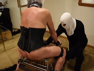 Ronni gets E-Stim and a Good Beat-Down Sept 2019 Master T
