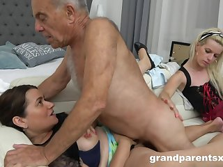 A Hotness Weird Young Housemaid Fucks Old  - Old and Young
