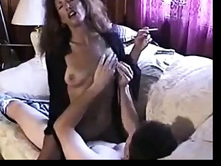 Hot Sexy Brunette Smoking plus Riding Cock
