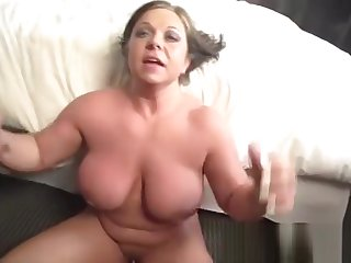 Divine busty mature lady is getting moneyshot