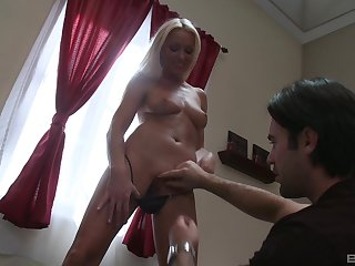 Beauteous girl Diana Doll screams from pleasure while will not hear of darling fucks will not hear of