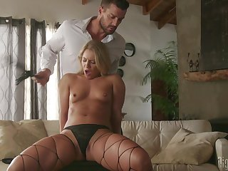 Stark naked Candice Dare feels amazing when fucking ergo hard