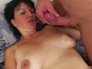 Adult brunette Alena craving for hard and long detect in her pussy