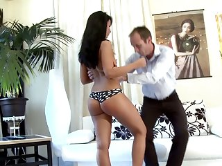 Teen with bad behavior Victoria gets spanked with the addition of punished at the end of one's tether strict stepdad