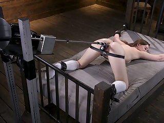 Wench Danni Riversis testing crazy fucking machine nescient room