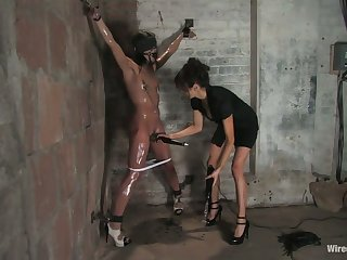 Angry mistress punishes affianced brunet whore Alyssa Reece down selection sex toys