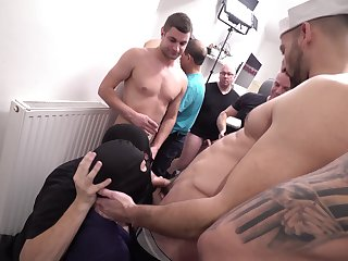 Horny sailors share a group anal together