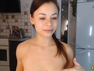 horny clumsy sucks and fucks dildo