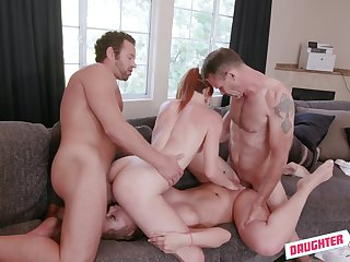 Smashing girls try a putrefied foursome with two potent individuals