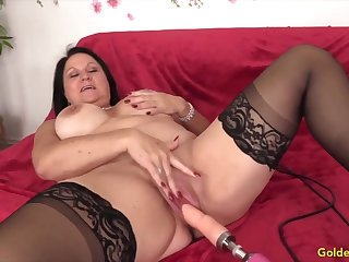 Golden Slut - Mature Women Getting Railed by Shafting Machines Compilation 5