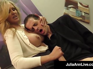 Julia Ann is a shafting blondie female, who loves to touch boners increased by make them herd out