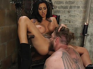 Mistress Lily Street loves alongside torture and penetrated her male slave