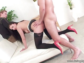 Lovely Get hitched Swinging With Other Man With Her Husband