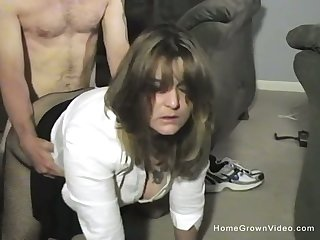 Thick and busty wife makes her first homemade porno