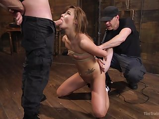 Exclusive scenes of male domination apropos a petite girl