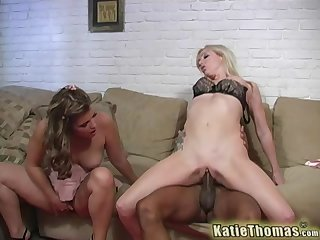 Adrianna Nicole and Katie Thomas share one large diabolical penis