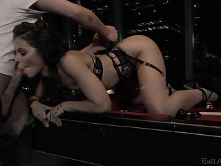 Criminal chick Adriana Chechik gets fucked and jizzed by one kinky client