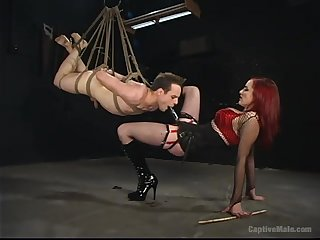 Extreme femdom BDSM with rough anal together with deepthroat