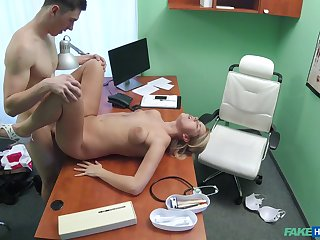 Hot lad fucks the secretary on musty cam