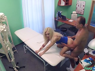 Tight blonde fucked adjacent to the bore and pussy