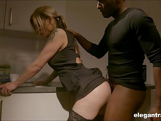 Pale nympho yon nice aggravation Klarissa is properly analfucked by black stud