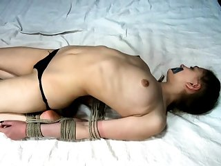 Extremely hardcore BDSM hawser copulating with anal action