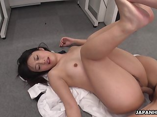 Hot Asian girl Tomomi Motozawa loves some mish fuck and she's got a nice ass