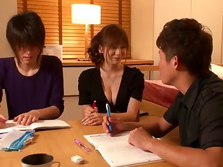 Yuma asami are tempted to h cup tutor teacher