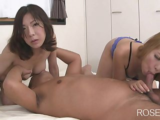 Nice asian matures 3Some Orgy
