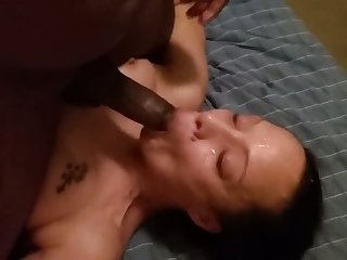 This wicked harlot from Texas loves a black cock with an increment of she loves facials